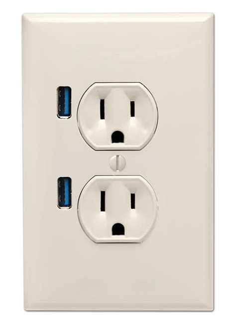 outlet with usb ports u socket wall outlet with two usb ports gadgetsin