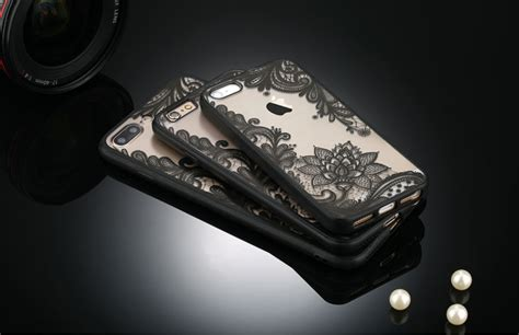 Softcase Remax For Iphone 7 retro vintage lace pattern tpu softcase for iphone 7 plus