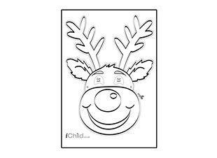christmas reindeer mask ichild christmas reindeer