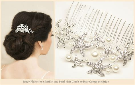 Starfish Hair Accessories By Hair Comes The Bride | starfish bridal hair accessories for your beach wedding