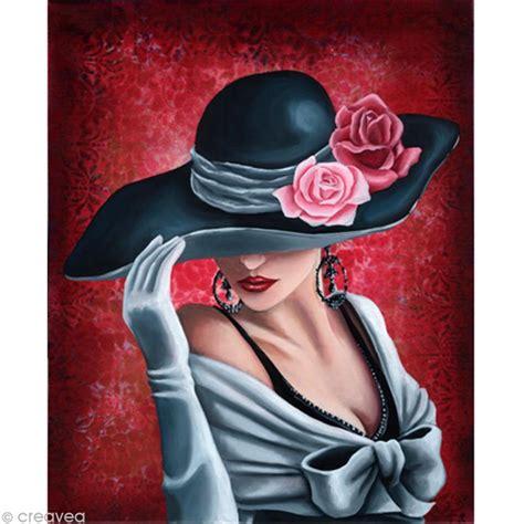 Poster Note Isi 8 40 X 20 Cm image 3d femme femme au chapeau sur fond 30 x 40 cm