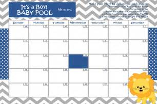 Baby Pool Template by Customize Baby Calendar For Baby Shower Pool Theme
