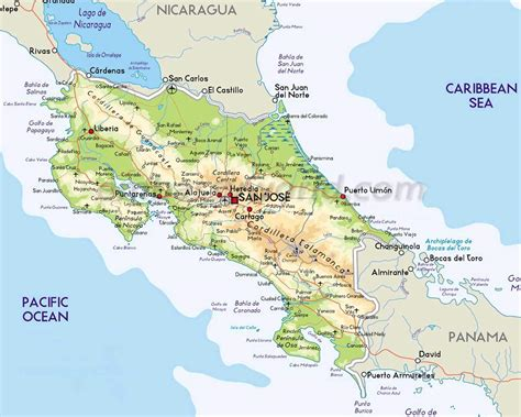 map costa rica map of costa rica every map you need to plan your trip to costa rica
