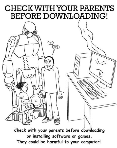 free coloring pages of internet safety