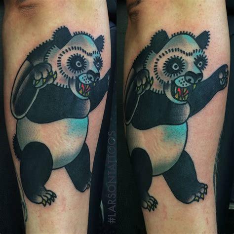 panda ankle tattoo vintage inker panda tattoo on foot