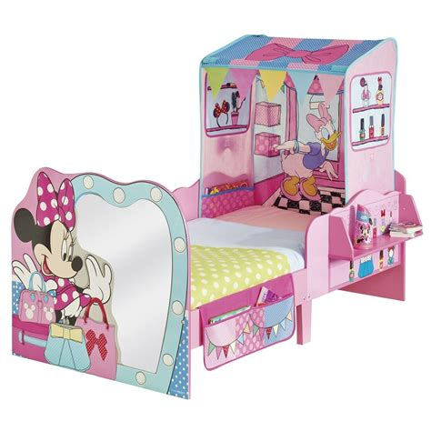 minnie mouse toddler bed frame minnie mouse startime junior toddler feature bed