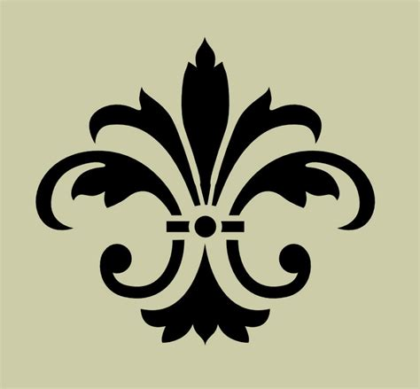 stencil fleur de lis no 8 5x4 5 from artisticstencils on