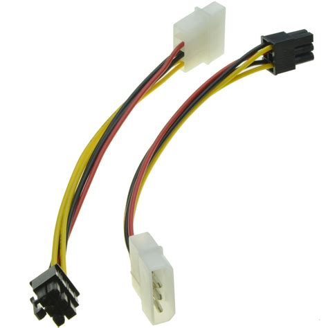 alimentatore 4 pin 6 pin to 4 pin molex power supply cable graphics