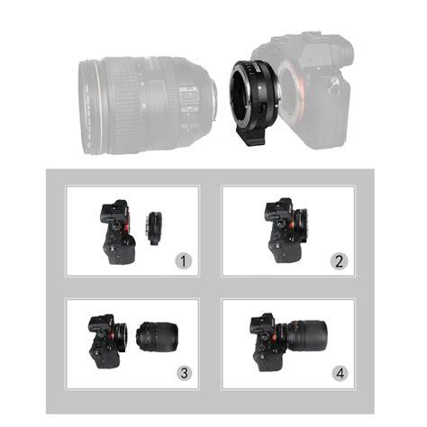Kamera Sony Frame meike mk nf e manueller fokus objektiv mount adapter ring metall f 252 r nikon f objektiv an sony
