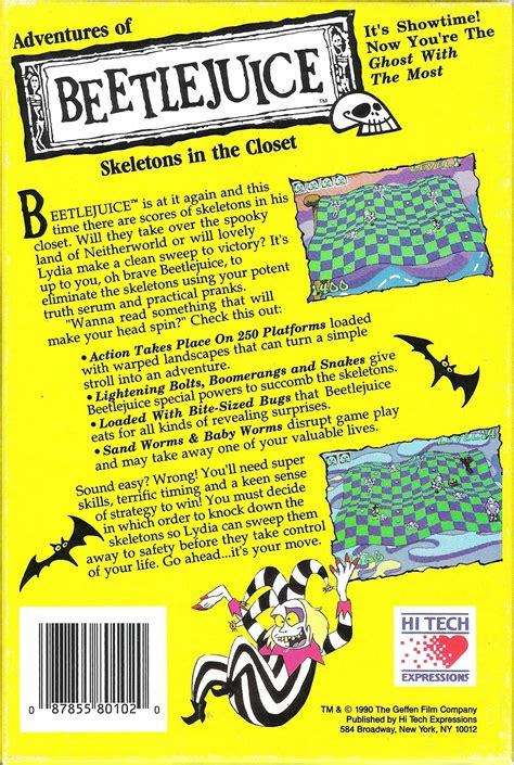 Beetlejuice Skeletons In The Closet by Adventures Of Beetlejuice Skeletons In The Closet Details