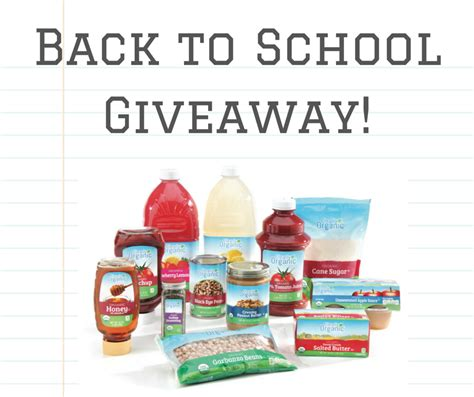 School Giveaway - back to school giveaway clearly organic