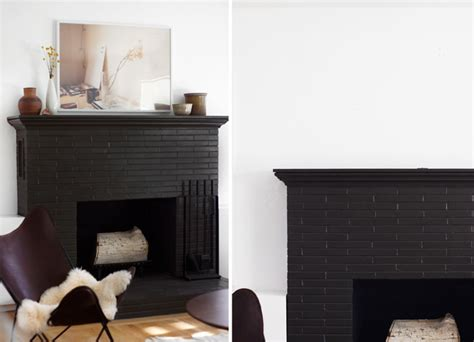 Black Painted Brick Fireplace by The Gallery For Gt Black Painted Brick Fireplace