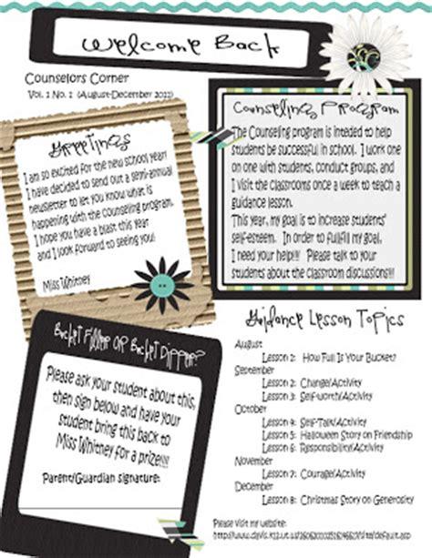 school counselor newsletter title counselor newsletter