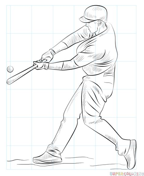 easy softball coloring pages how to draw a baseball player step by step drawing tutorials