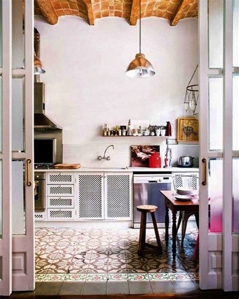white kitchen patterned floor patterned tiles floors i saw and liked decorator s notebook