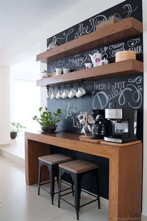 Office Bar Ideas Antes Y Despu 233 S Coffee Bar Un Rinc 243 N Para El Caf 233