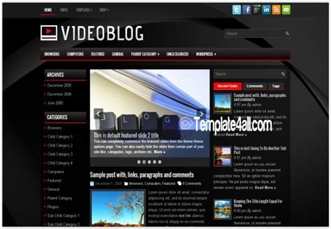 all black themes download black videos blog wordpress theme download