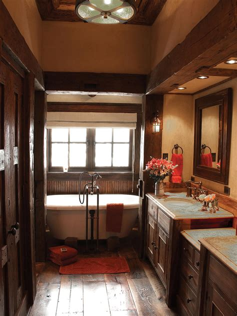 rustic decorating rustic bathroom decor ideas pictures tips from hgtv hgtv