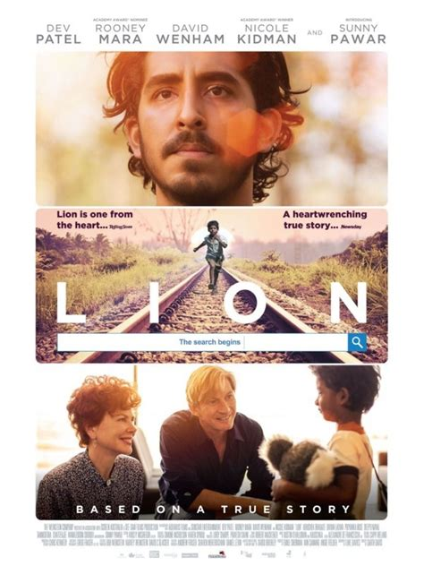 lion film garth davis dev patel nicole kidman sunny pawar s lion movie poster