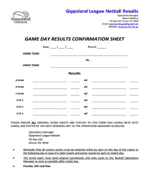 netball umpiring score cards template get netball score cards pdf form sles to fill