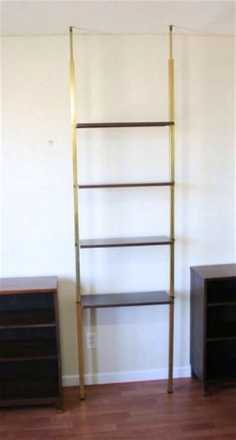 tension pole shelf mid century room dividers
