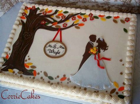 couples wedding shower cake ideas 17 best images about sheet cakes on cookie