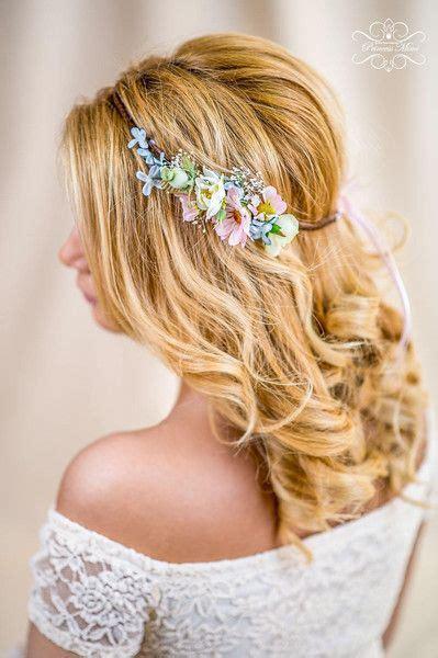 Hochzeitsfrisur Mit Krone by Blumenkranz Hochzeit Haarband Blumen Dirndl Krone