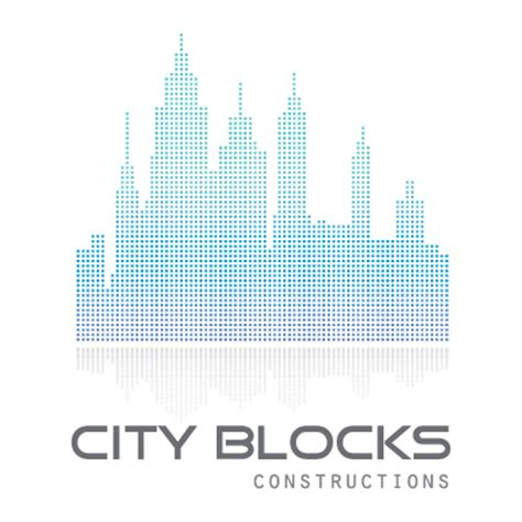 city blocks logo design gallery inspiration logomix