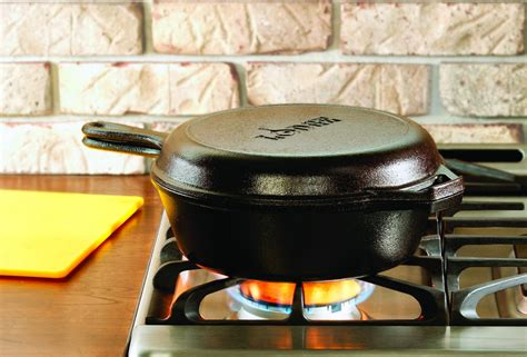 Review And Giveaway - lodge cast iron combo cooker review and giveaway
