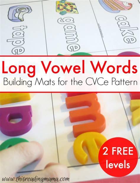 cvce pattern words building long vowel words cvce