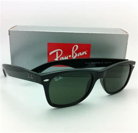ban sunglasses rb 2132 901 52 18 new wayfarer black w green lenses ebay