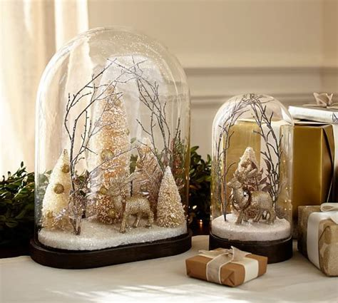 pottery barn nativity set scenic deer cloche pottery barn decorations ornaments search deer