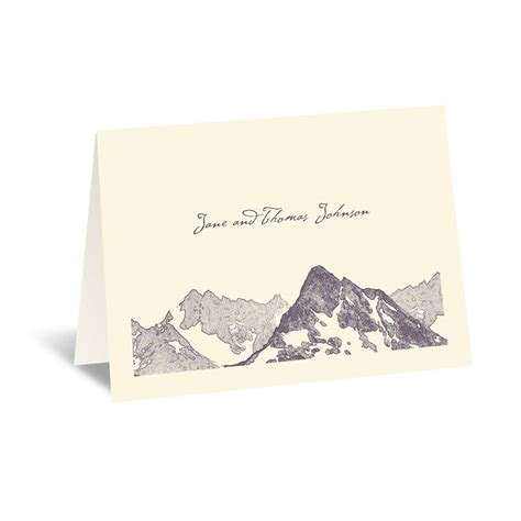 Mountain Gift Card - watercolor mountain thank you card invitations by dawn