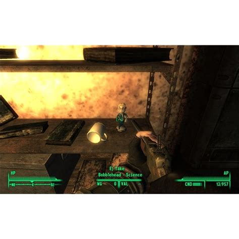 bobblehead in megaton finding the bobbleheads for melee weapons repair and