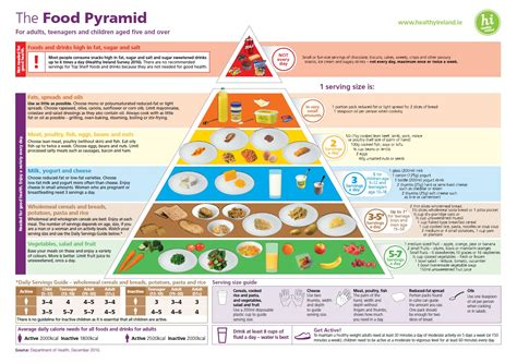 printable version of food pyramid health and wellbeing healthy eating guidelines ireland