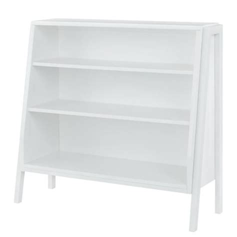 graduated wide bookcase white shelves