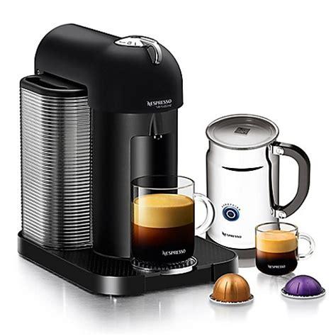 nespresso bed bath beyond nespresso 174 vertuoline coffee and espresso maker bundle in