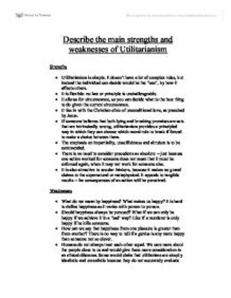 Greatest Strengths Mba by Greatest Strengths And Weaknesses Essay