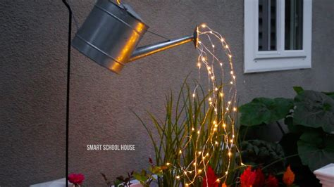 lights that look like water glowing watering can made with lights