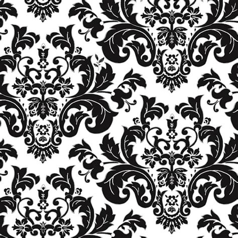 black and white fancy pattern items similar to white damask by henry glass on etsy