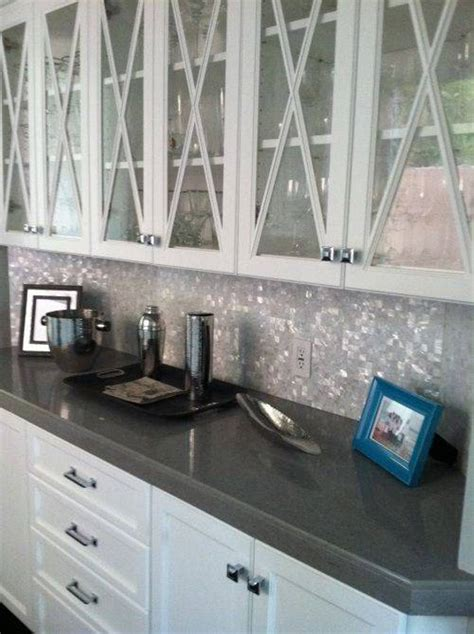 gray backsplash white cabinets kitchen glass mosaic backsplash for kitchen pearl