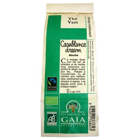 casa bio th 233 vert bio casablanca menthe jardins de ga 239 a 100 g