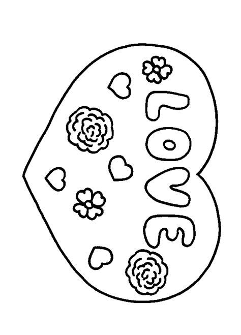 coloring page for love love coloring pages