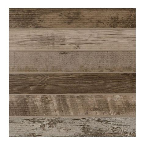 daltile modern outdoor living weathered wood 18 in x 18 in glazed porcelain floor and wall
