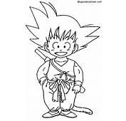 Dibujo Para Colorear De Goku  AZ Dibujos