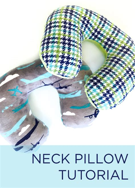 Travel Pillow Tutorial by New Tutorial Make Your Own Travel Neck Pillow Crafty