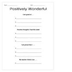 self esteem positive thinking worksheets building self