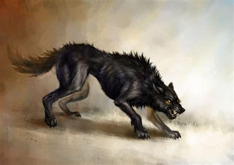 Gamis Wolvis Greeny black wolf by kimdingwall on deviantart