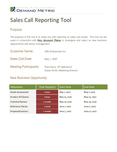 sales call report template sales call quotes quotesgram