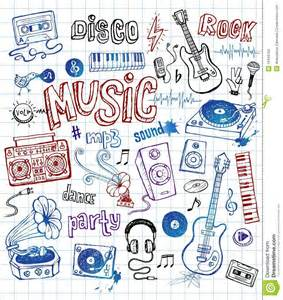 doodle less pool musicas sketchy illustrations royalty free stock images